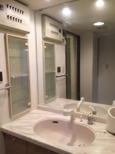 洗面所 リフォーム 収納画像