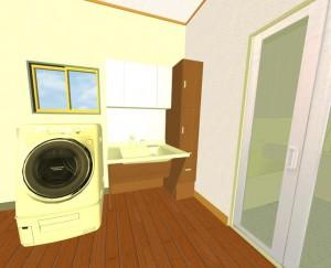 リフォーム洗面所洗濯機画像