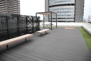 屋上庭園の雨漏り画像